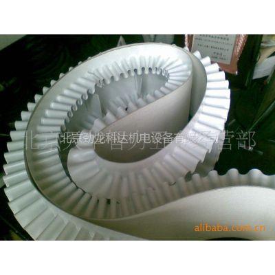供应制药厂专用无毒无味输送带,粘结裙边,白色