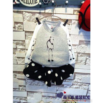 韩版高档小马空气层卫衣搭配裙 厂家直销R2015 0.96 A8919 0.86A