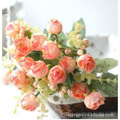 【特价】欧式田园 高档绢花仿真花 装饰花艺 法国苞心玫瑰含苞待