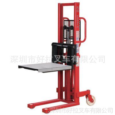 供应厂价直销鸿福手动液压模具堆高车 鸿福手动升高叉车 手动装卸车