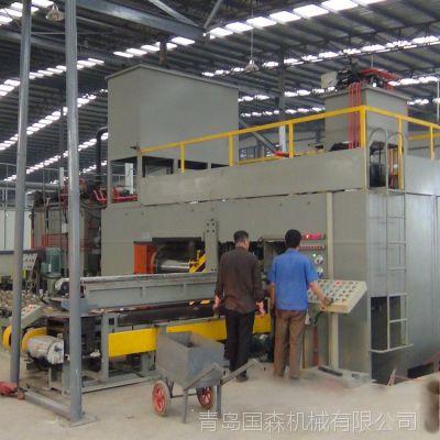 国森牌利用速生木质单板重组成高密度仿实木压机设备