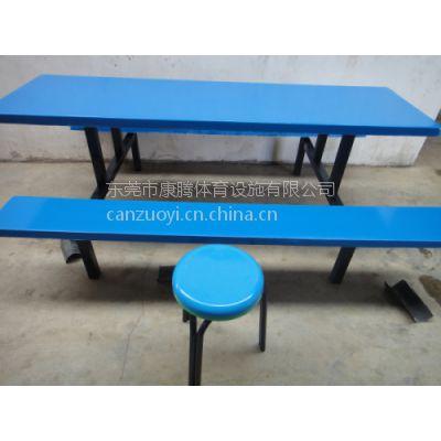 龙岗饭堂餐桌价格_学校学生食堂六人位玻璃钢餐桌椅批发