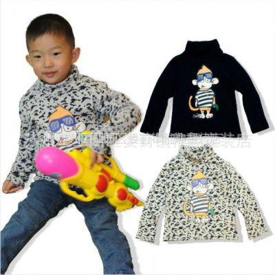 供应欧美t-hm儿童打底衫 高领 中小童装 外贸秋冬装整单吊牌全