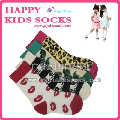 """供应""""兰桂芳""""可贴牌儿童棉袜,提花全棉BB袜,儿童袜子批发"""