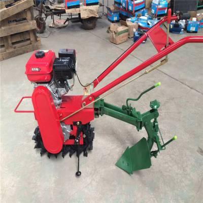 汽油动力轻便型手推式松土机 富兴 大功率旋耕除草机