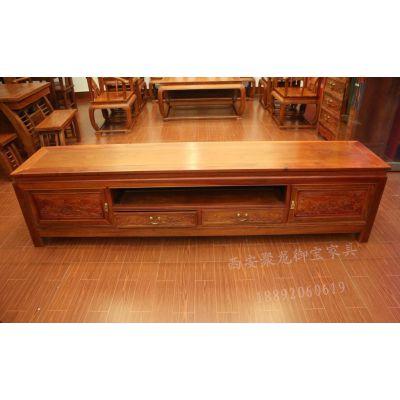 西安仿古家具│仿古红木电视柜│实木电视柜│实木家具供应
