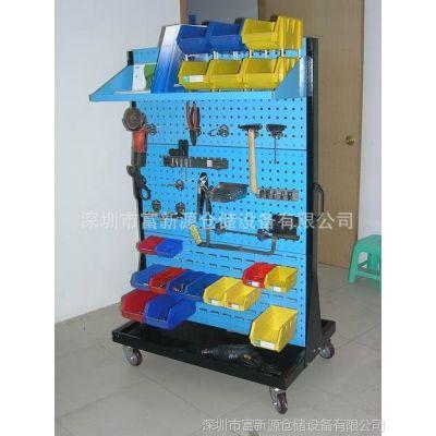 供应双面带脚轮物料架价格,百叶挂板物料架图片,生产物料架的厂家