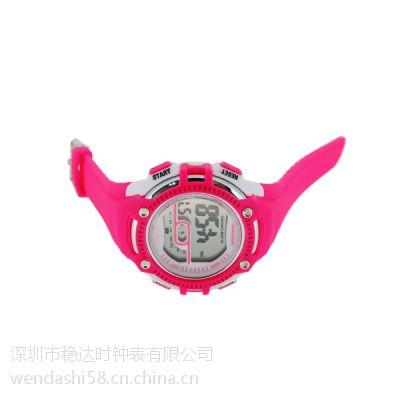 多彩儿童硅胶手表定制 稳达时手表贴牌工厂直销