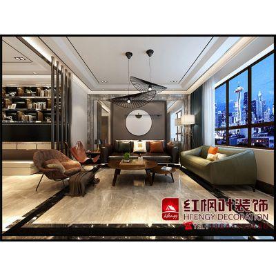 鲁商凤凰城-舒适、温馨混搭风格-哈尔滨红枫叶装饰