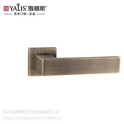 雅丽斯 BF79233磁力静音分体门锁 室内锁 广东五金
