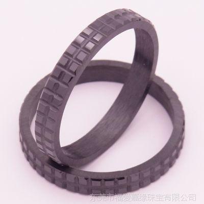 3mm宽巧克力双排戒指配件 氧化锆精密陶瓷戒子批发首饰加工厂家