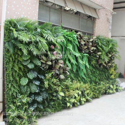 深圳绿琴厂家批发 仿真植物墙 人造假绿植墙 金钱草尤加利装饰 绢布装饰假花假叶子