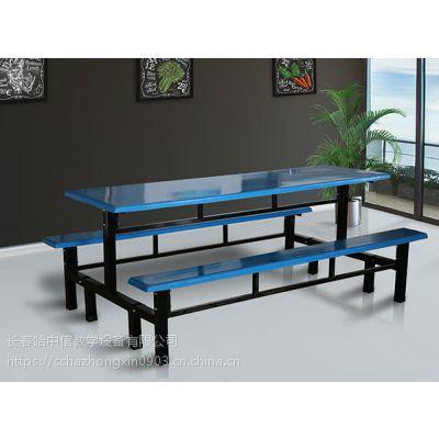 白山多面板色系可选则食堂餐桌椅定制生产