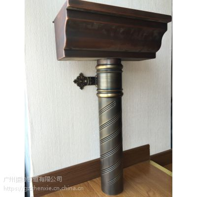 捷思加工定做别墅金属天沟,6寸金属槽,落水管,排水管,6寸排水槽,铜槽,铜沟