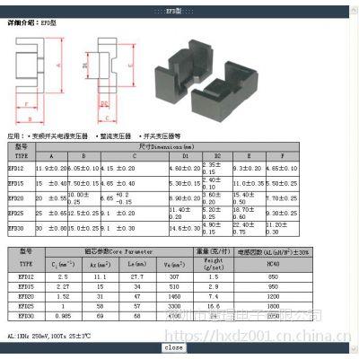 变压器EFD15磁芯