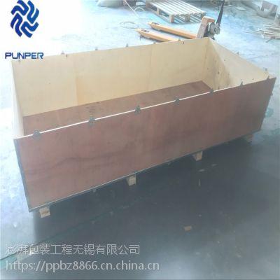 澎湃厂家定做出口免熏蒸胶合板 钢边箱 定做可拆卸钢带箱