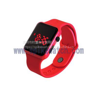 速卖通火爆热销休闲简约苹果方形LED手表质量可靠