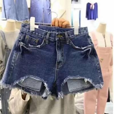 2019便宜女装牛仔短裤批发厂家货源 时尚新款牛仔短裤批发 开店货源