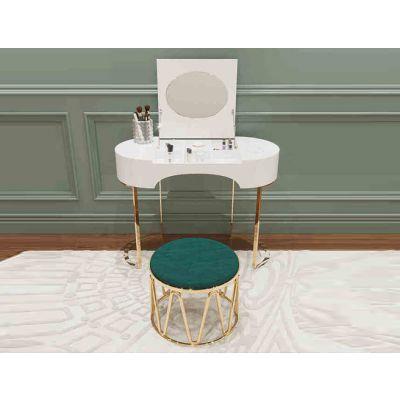 后现代卧室不锈钢简约收纳小化妆桌别墅定制家具
