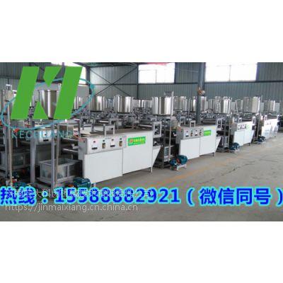 一套小型干豆腐生产线报价,自动生产干豆腐设备多少钱,宏大厂价直销包教技术