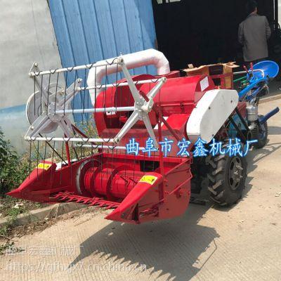 手扶拖拉机配套小麦水稻收获联合收割机 小型小麦收割脱粒一体机厂家