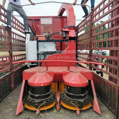 养殖牛羊饲料青鲜秸秆粉碎回收机 秸秆青储机 拖拉机带动式牧草回收一体机