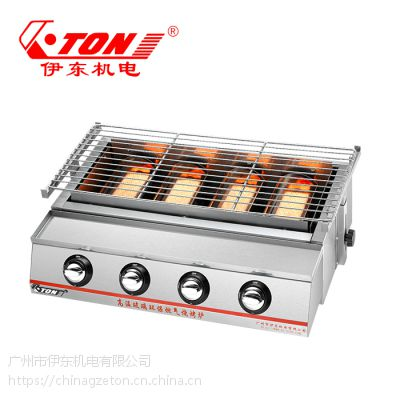 伊东厂家 K22不锈钢 环保加厚烧烤炉 户外燃气玻璃烤肉架 烤生蚝烤面筋