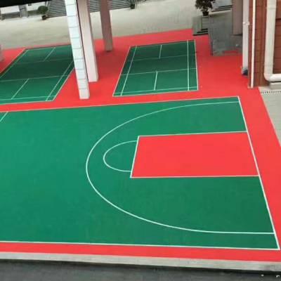 成都室外功能地板篮球场室内足球场悬浮式拼装地板 幼儿园包安装