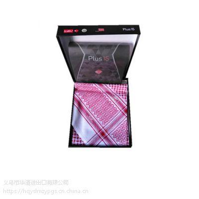 2019礼盒精装阿拉伯高档丝光棉头巾 Arabian mercerized cotton scarf