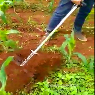 苗木手推式锄草机 新型汽油动力微耕松土机