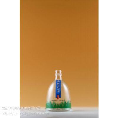 供应定制生产优质晶质料玻璃瓶白酒瓶可喷涂蒙砂印LOGO