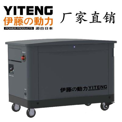 上海电启动10KW汽油发电机
