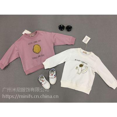 子田*糖卡布衣一线时尚韩版棉麻系列童上衣卫衣品牌折扣批发