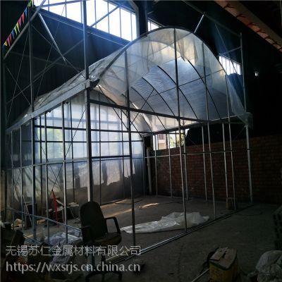 简易葡萄温室大棚骨架,火龙果连体温室,热镀锌蔬菜温室大棚厂