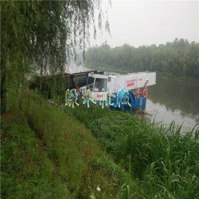 水电站水面垃圾保洁船,天津河道水草打捞机械,景区水草收割设备