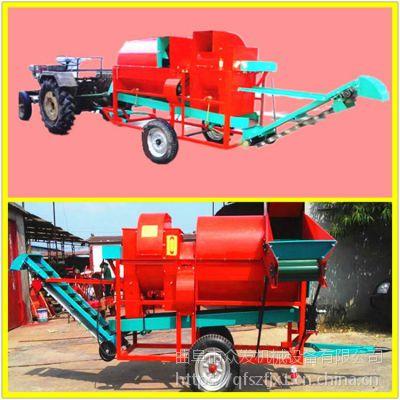 摘果无杂质秧果分离机 众发四轮牵引式花生摘果机
