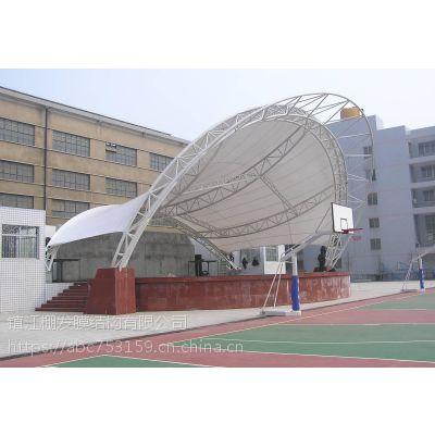 山东体育设施景观棚上海小区膜结构遮阳棚常州大跨度PVDF景观张拉膜