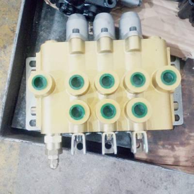 zs-l118e-2ot液压2联分配器农机多路阀 手动阀 铲车换向阀zs-l118f-4图片