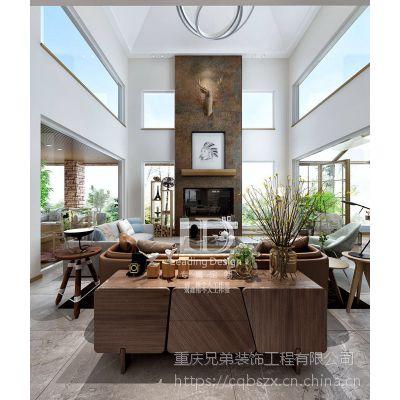 重庆棕榈泉国际花园别墅装修,渝北独栋别墅400平设计案例