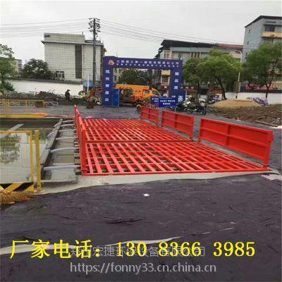 江西水泥厂门口安装12米长自动洗车平台NRJ-11治理扬尘污染