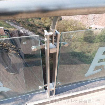 昆山市金聚进平台式不锈钢栏杆立杆无水泥基础架梁梯欢迎采购