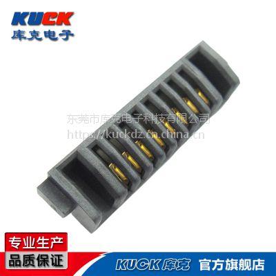 笔记本电池连接器A09F母座8Pin间距2mmPH刀片式互连双触点