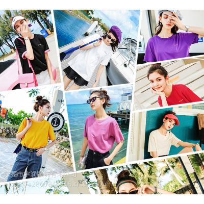 广州白马便宜女装T恤库存服装夏季短袖地摊货女士上衣几元服装清仓2元处理