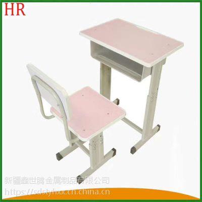 奎屯 升降课桌椅现货 板式学生课桌椅