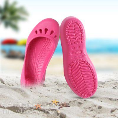 迪特外贸女式凉鞋 甜美沙滩洞洞鞋 镂空女士洞洞鞋EVA防滑凉拖鞋批发