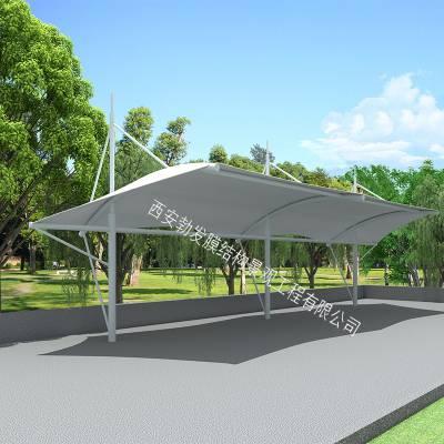 索膜膜结构车棚定做,钢膜结构自行车棚设计施工—榆林市厂家直销