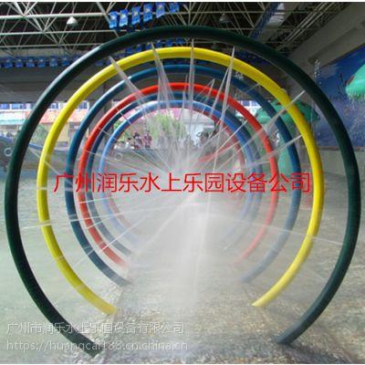 广州润乐水上乐园设备提供戏水小品、滑梯系列——七彩圈