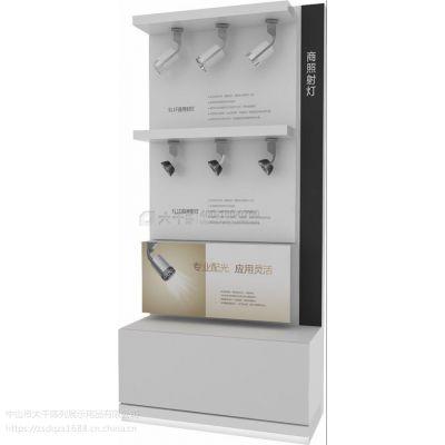 五金烤漆展柜 木质橱柜式货架展示柜 厂家直销 LED灯具展示柜