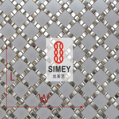 丝美艺XY-2157金属编织网 吊顶装饰材料网 304不锈钢菱形编织网