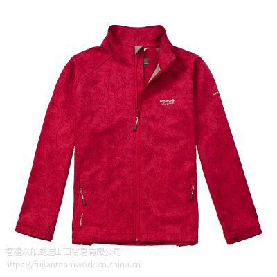 无帽冲锋衣 女式实用 舒适欧美款式 2018新品纯色 形状花纹保暖超轻